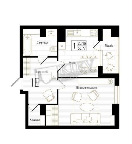 One-bedroom Apartment st. Gorkogo 74 17605